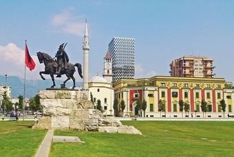 Skandebergplein Tirana, Albanie