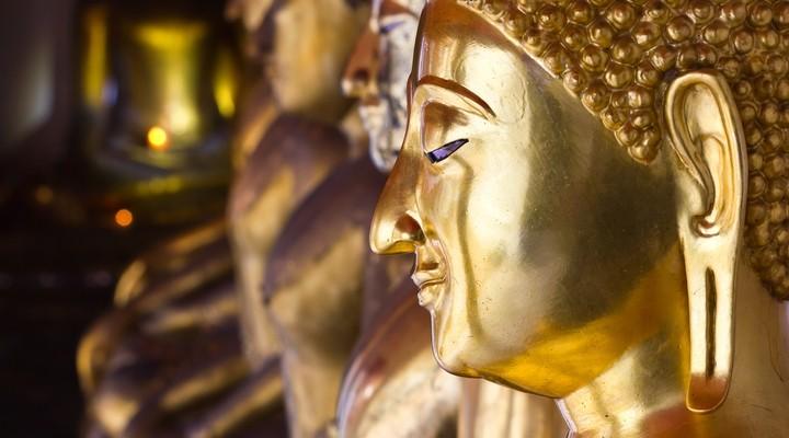 Boeddha in het paleis in Bangkok