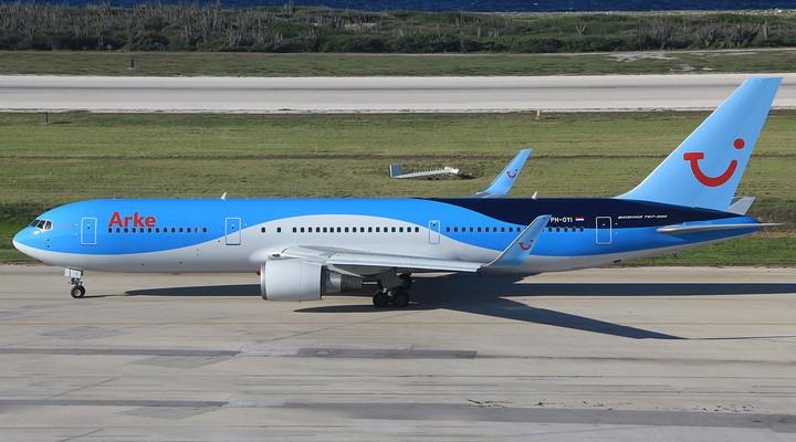 Een vliegtuig van het huidige Arke