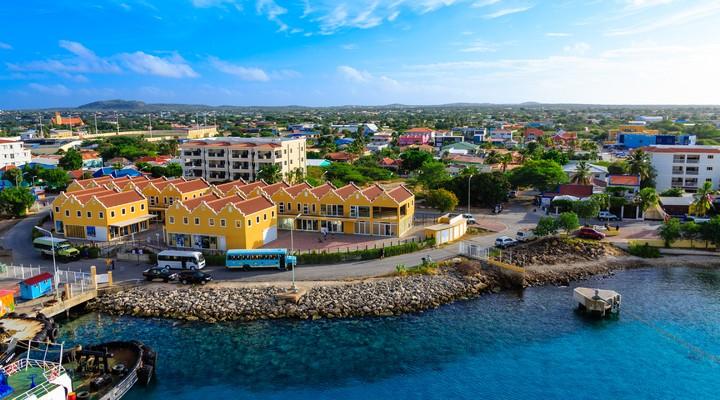 De haven van Bonaire