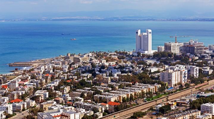 Haifa vanuit de lucht gezien
