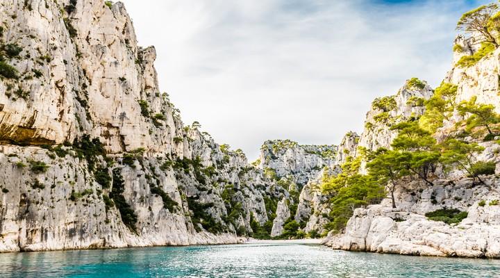 Kalksteenformaties in Frankrijk