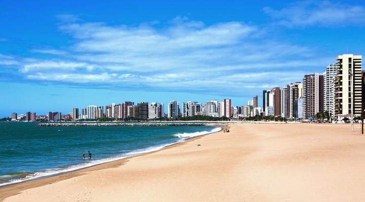 Strand van Fortaleza, Brazilie