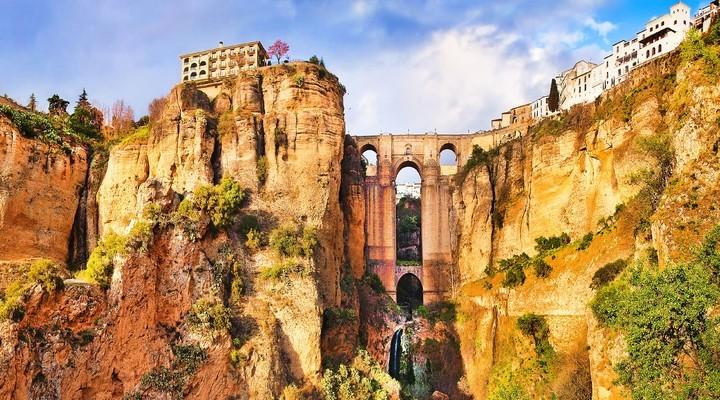 De stad Ronda in Spanje