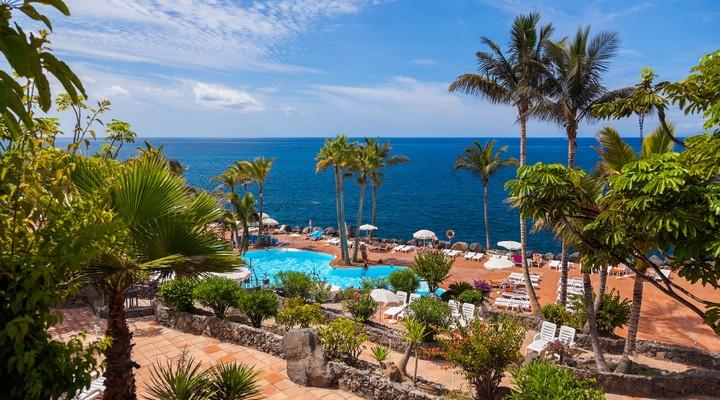 Zwembad en zee Tenerife - Canarische Eilanden