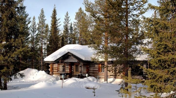 Blokhut Lapland, Finland, wintersport