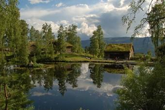 Het ruwe Noorse landschap