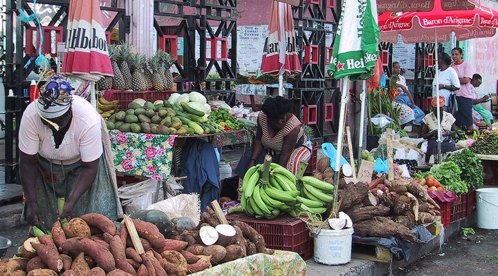 De markt van Pointe-à-Pitre
