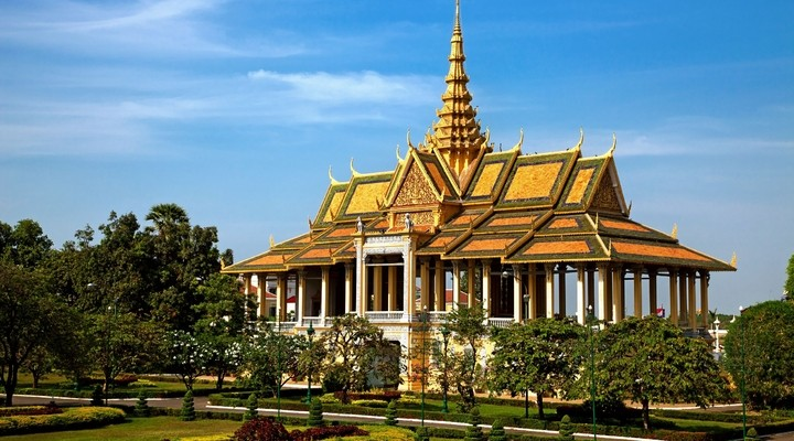 Mooi gebouw in Cambodja