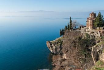 Meer van Ohrid, Kerk van St John, Macedonie