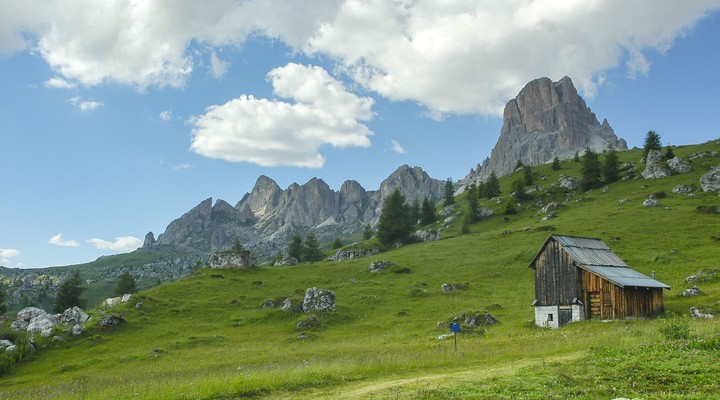 Passo Giau, Dolomieten, Veneto, berglandschap