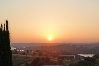 De zonsondergang bij Herdade da Cortesia
