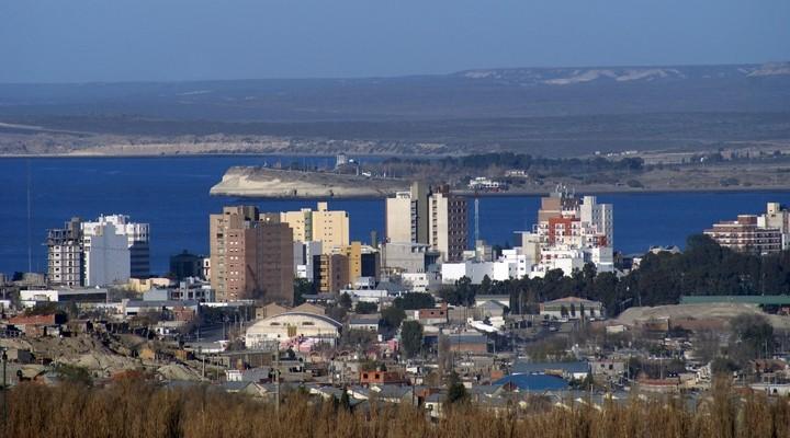 Uitzicht op de stad Puerto Madryn