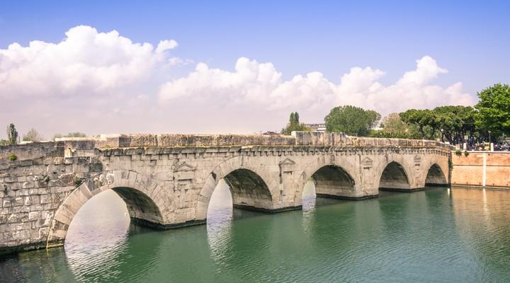 Romeinse brug, Marecchia rivier, Italië