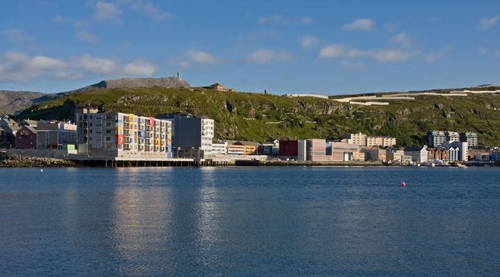 Hammerfest ligt in het noorden van Noorwegen