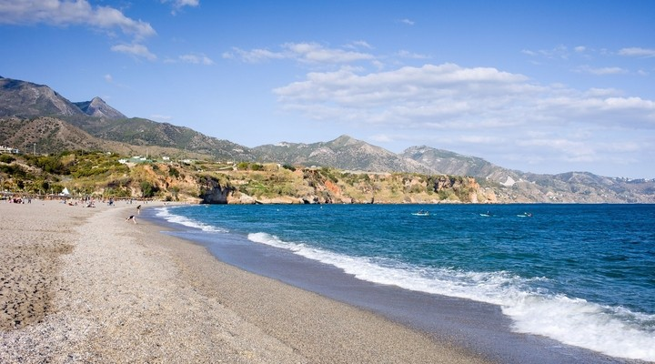 Burriana strand in Nerja - Spanje
