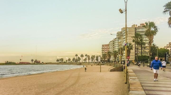 Strand Montevideo, hoofdstad Uruguay