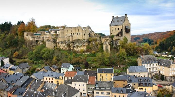 Kasteel in Larochette, Luxemburg