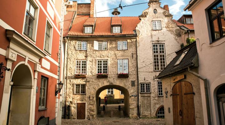 de Zweedse poort in Riga