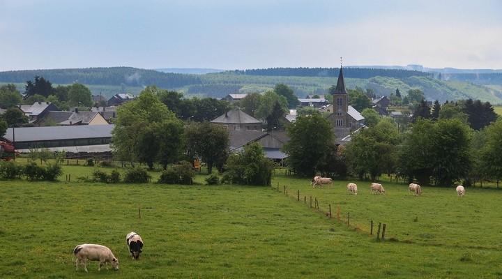 Uitzicht op La-Roche-en-Ardenne Belgie