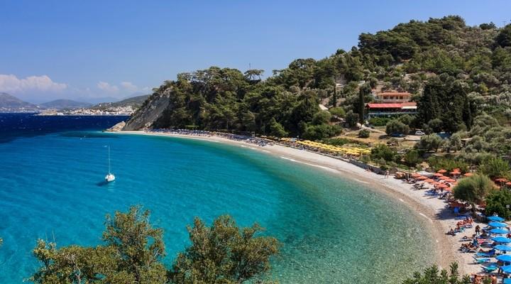 Een strand op het Griekse eiland Samos