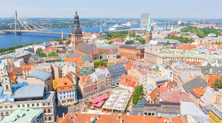 Luchtfoto Riga centrum, Letland