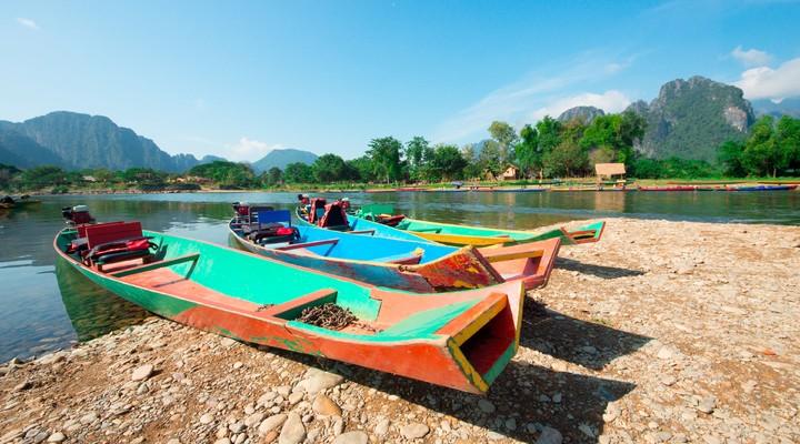 Bootjes in Vang Vieng