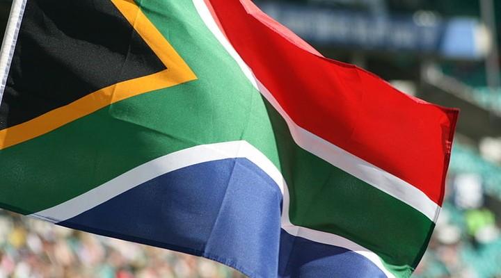 De vlag van Zuid Afrika