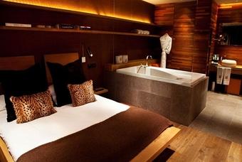 Slaapkamer luxe Grau Roig Andorra Boutique Hotel