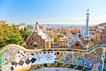 Uitzicht op de stad Barcelona