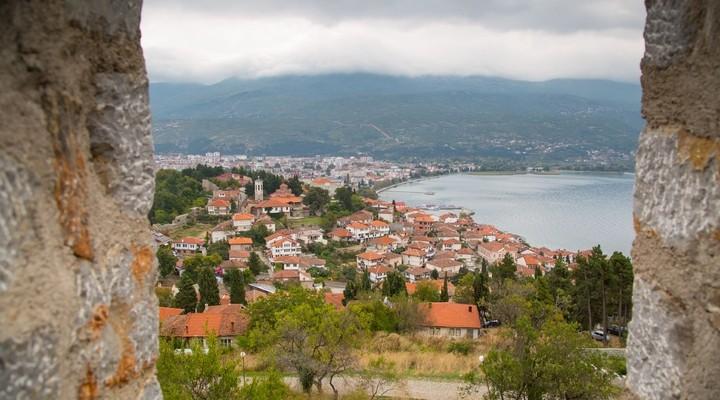 De stad Ohrid