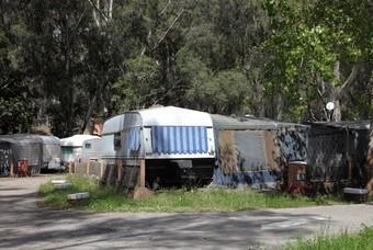 Caravans op camping