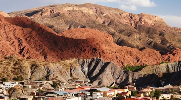 Tupiza is een bergdorp in Bolivia