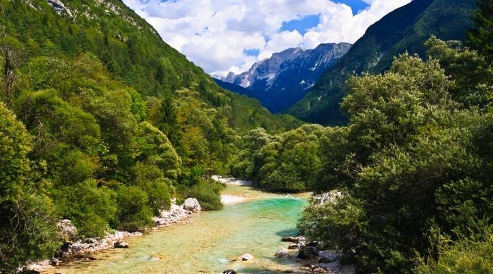 Soča rivier in Slovenië