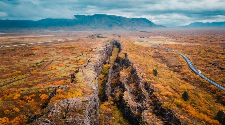Het Thingvellir National Park, één van de hoogte punten van de Golden Circle