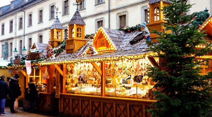 Een kerstkraam in Duitsland