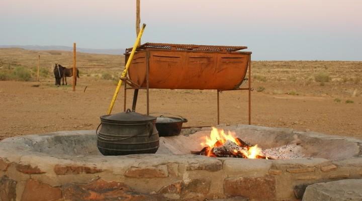 Lodges door heen Namibië