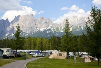 Camping bij de Dolomieten
