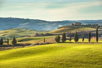 Groene landschap van Toscane