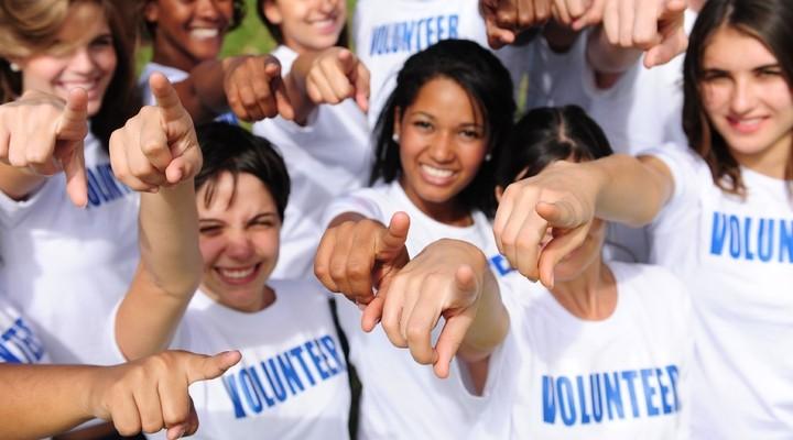 Een groep vrijwilligers