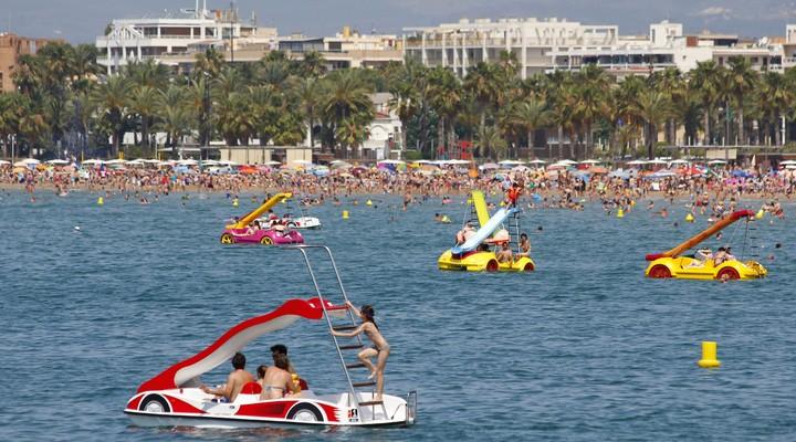 Salou gezien vanaf het water - Spanje