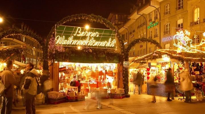 Kerstmis is Bern, hoofdstad van Zwitserland