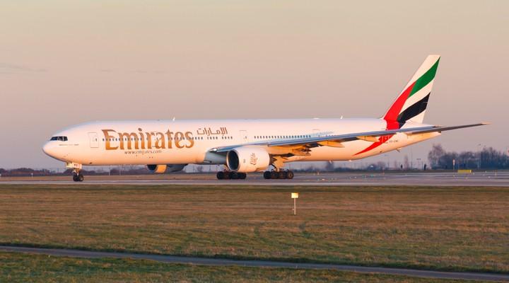 Een vliegtuig van Emirates Airline