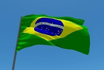 Wapperende vlag van Brazilië