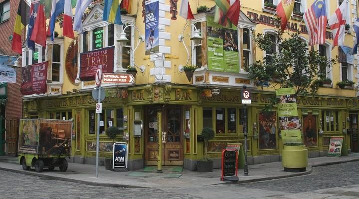 een pub in Temple bar district Dublin