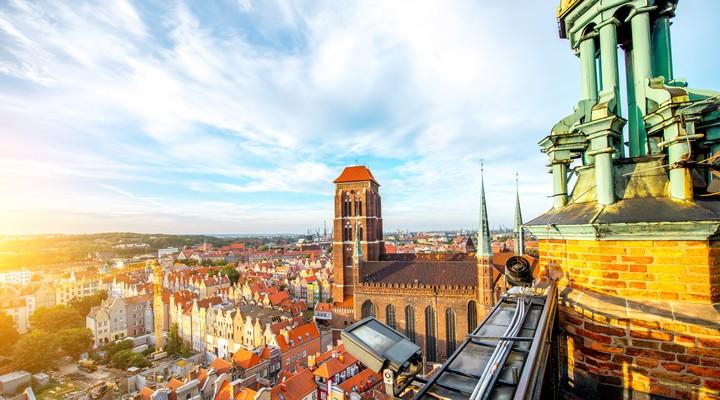 Uitzicht over Gdansk
