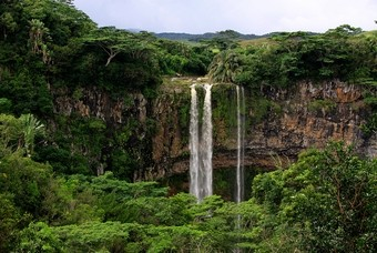 Chamarel waterval in Mauritius