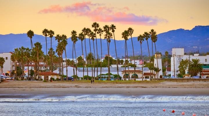 Strand van Santa Barbara, Californië