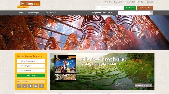 De vernieuwde website van Koning Aap