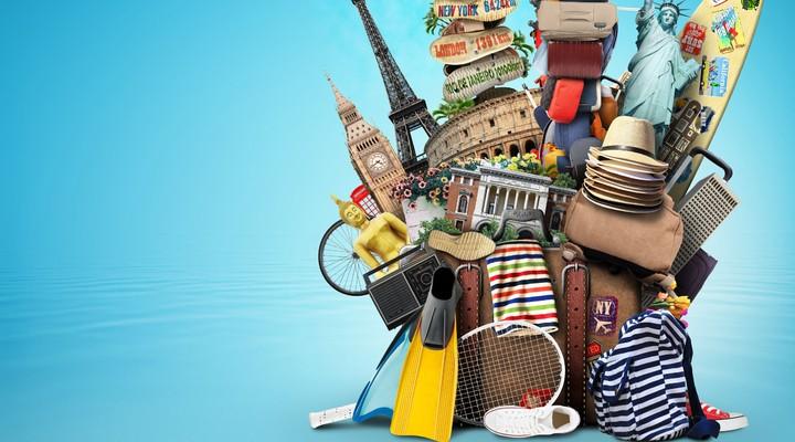 Met een uitpuilende koffer op vakantie